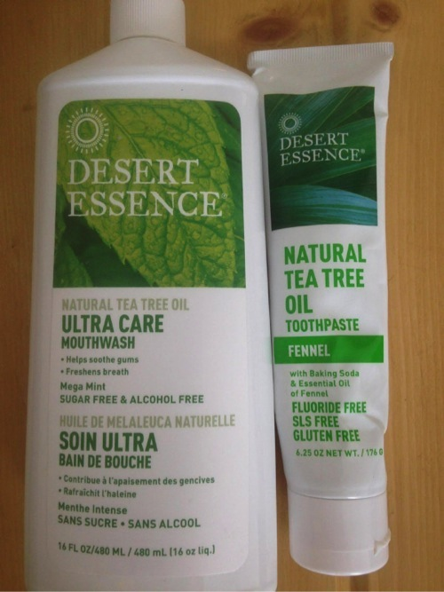 Desert Essence Mouth Wash and Toothpaste Courtney Rasbach EcoVeganGal