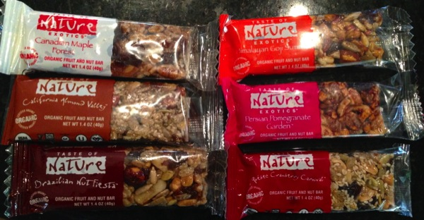 Taste of Nature ecovegangal bars