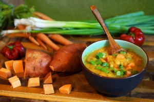 Split Pea Soup with Sweet Potato (plus 6 other vegan recipes!)