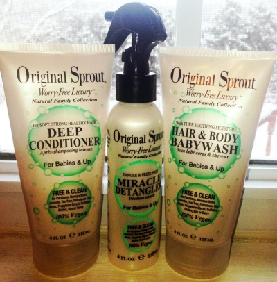 Fight Frizzy Hair with Original Sprout's Natural Hair Care Products